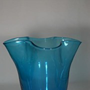Gorgeous Hand Blown Glass Handkerchief Vase - Great Color!