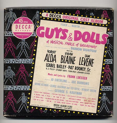 Decca Records 45rpm Original Cast Guys & Dolls