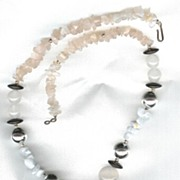 Mother of Pearl and Semi-Precious Necklace