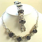 Juliana Smoke Black Demi-Parure - Necklace & Bracelet