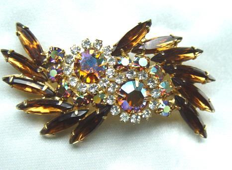 D & E (Juliana) Topaz Stunning Brooch - Spectacular!