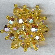 Yellow crystal brooch - Must See