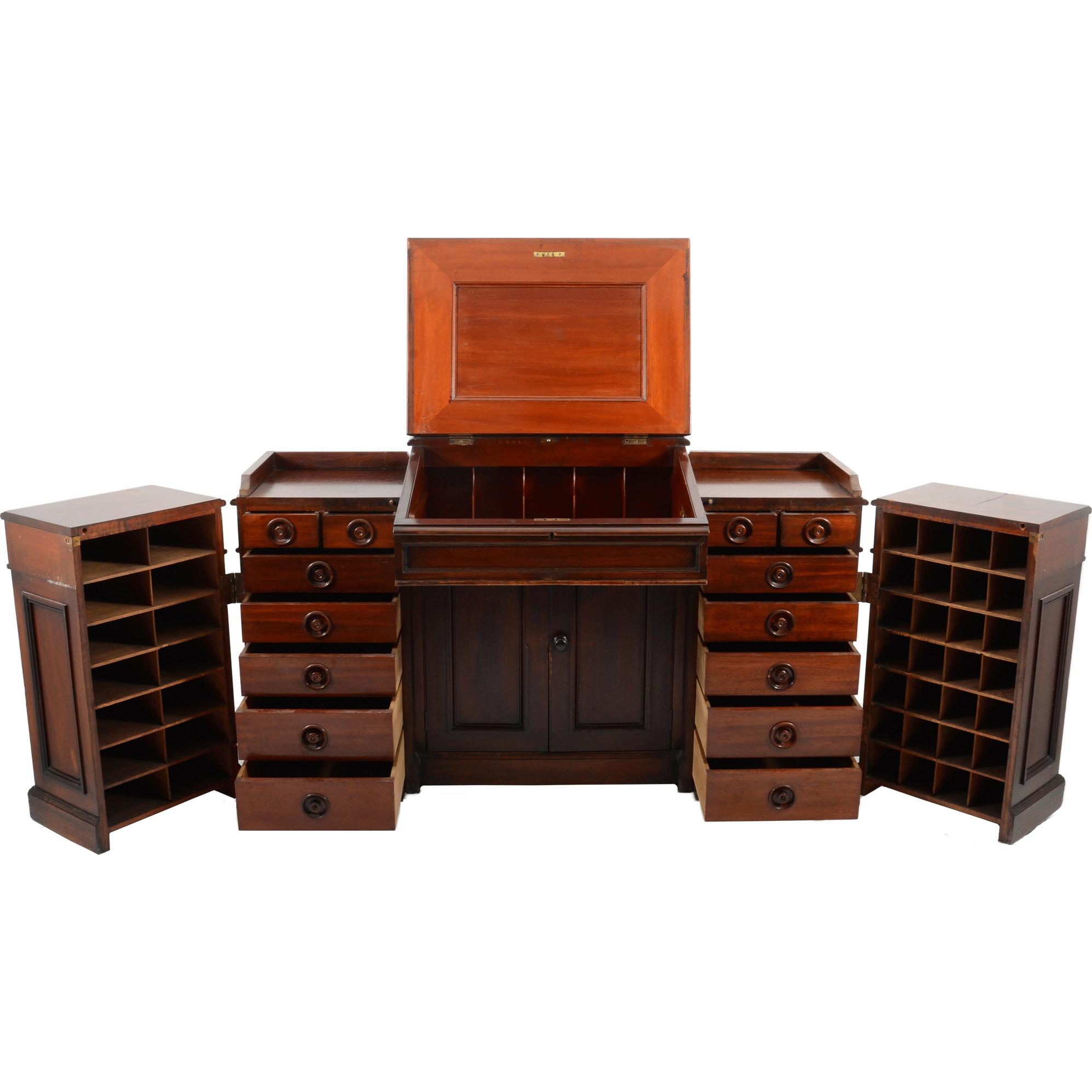 American Mahogany Lift Top Desk