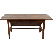American Oak Wood Lift Top Bakers Table