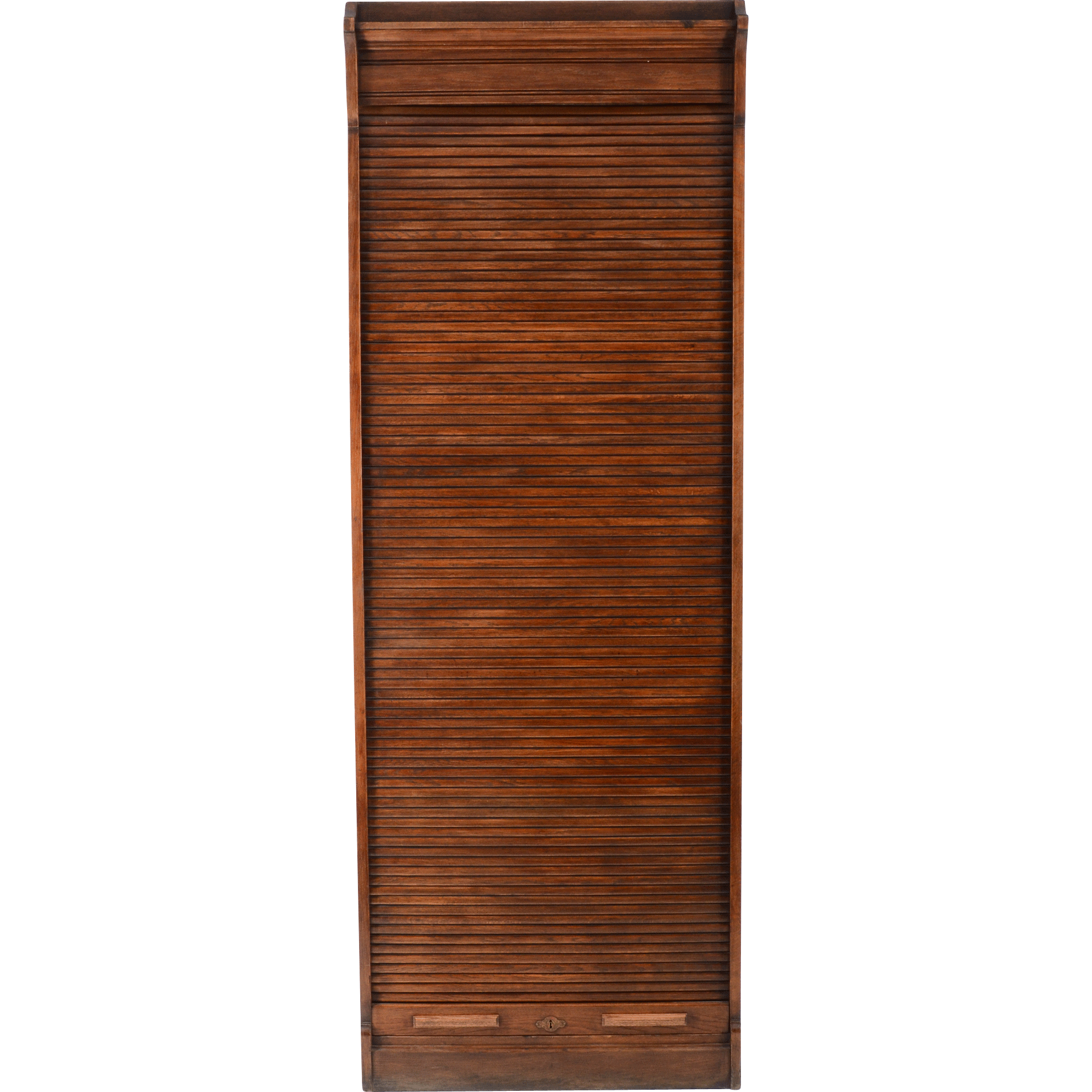 American Oak File Cabinet with Roll Top Door from ...