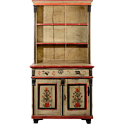 American Painted Country Hutch