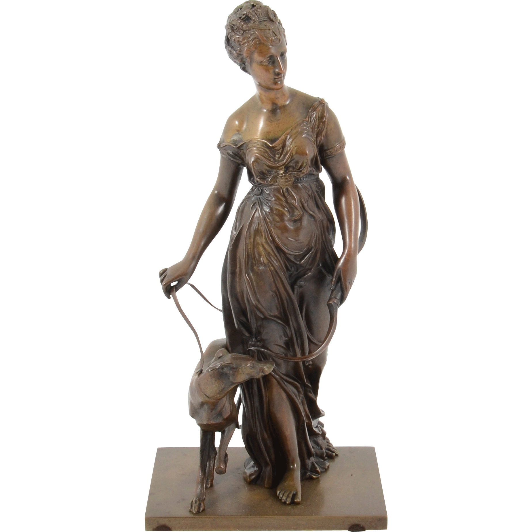 European Bronze Sculpture of Diana the Huntress