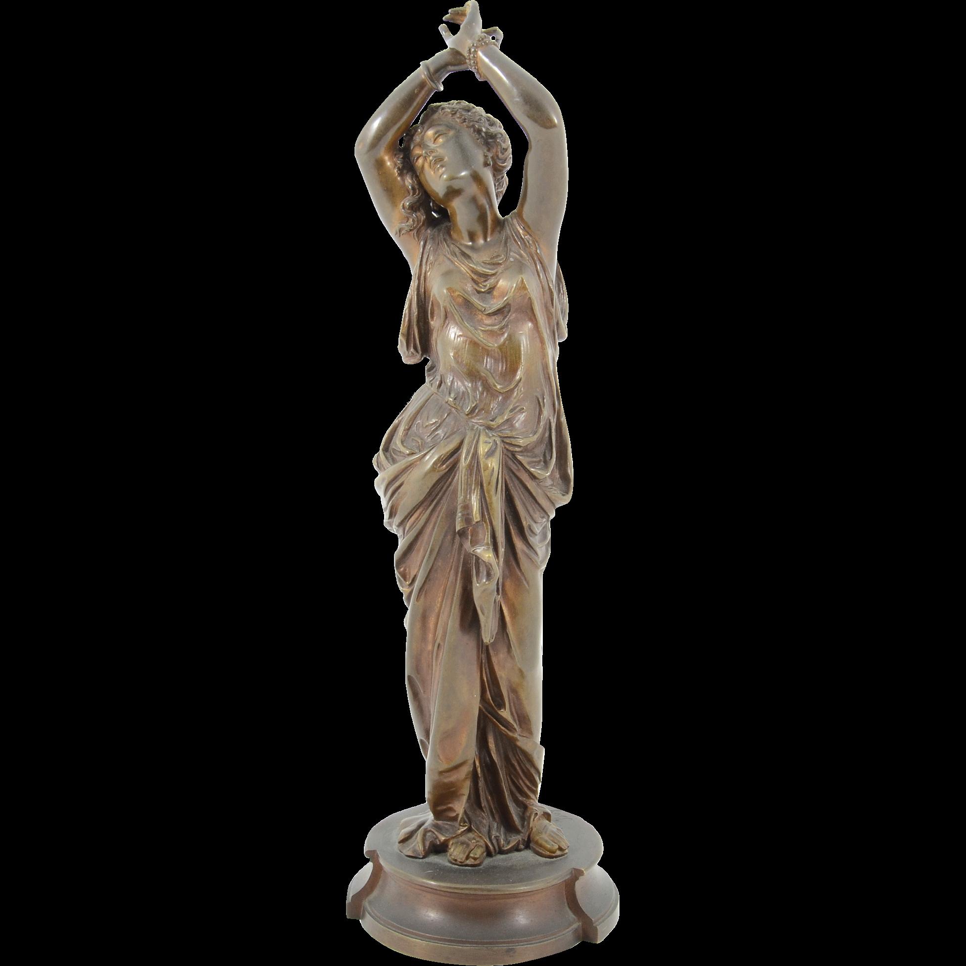 Bronze Sculpture Depicting Woman Dancing Signed Boyer