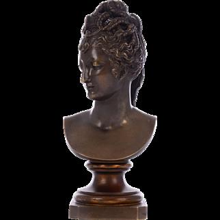 Woman Bust Bronze Sculpture