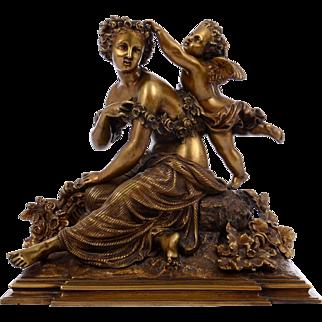 Bronze Sculpture Cupid and Psyche