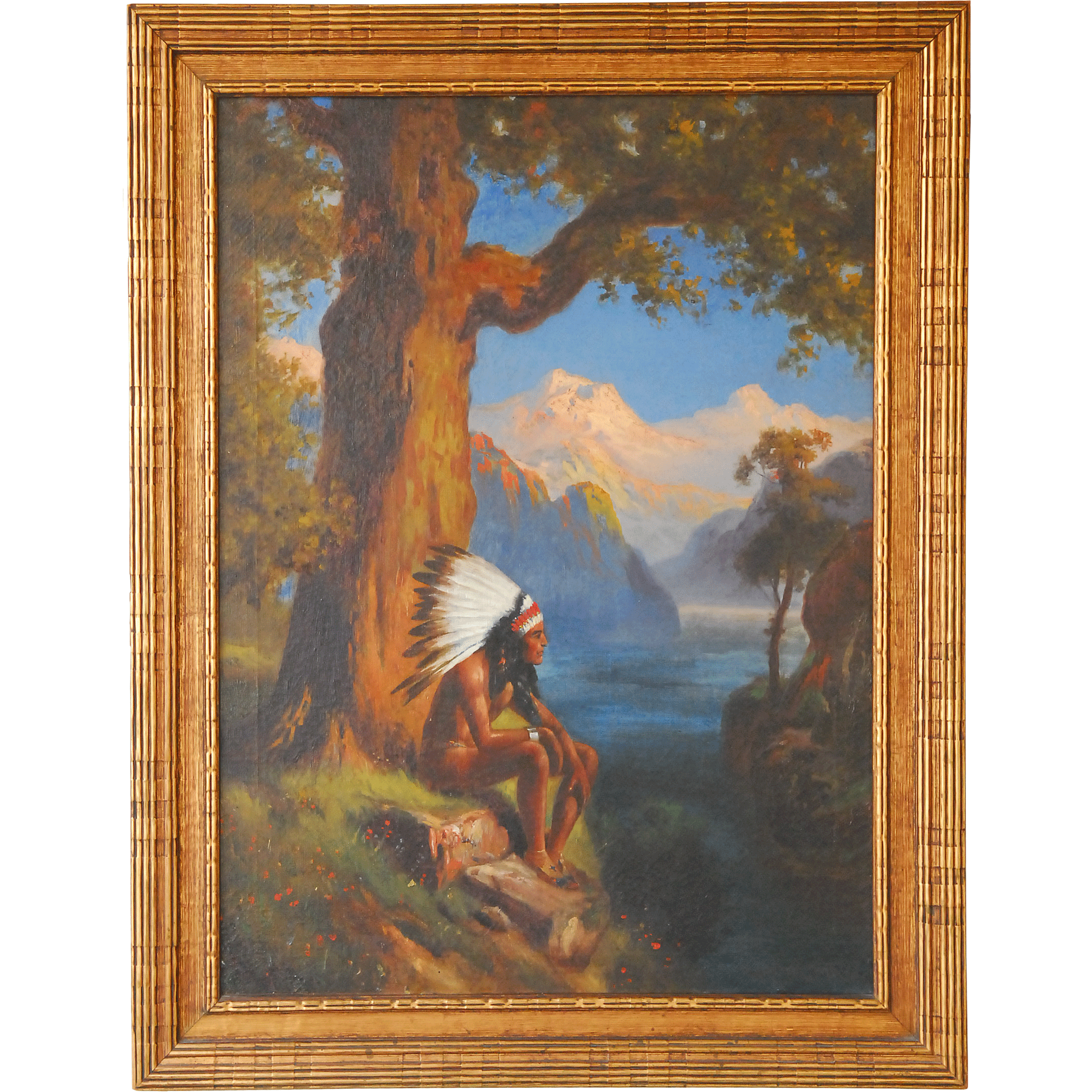Child of Nature by Robert Atkinson Fox Oil on Canvas