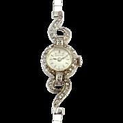 Swiss Ladies Diamond Wrist Watch Marked Anne