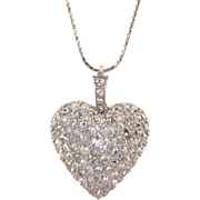 5.0 CTW Diamond Heart Pendant
