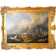 Maritime Oil on Canvas by Govert van Emmerik