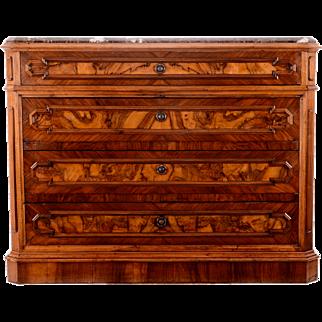 Marble Top Walnut Dresser