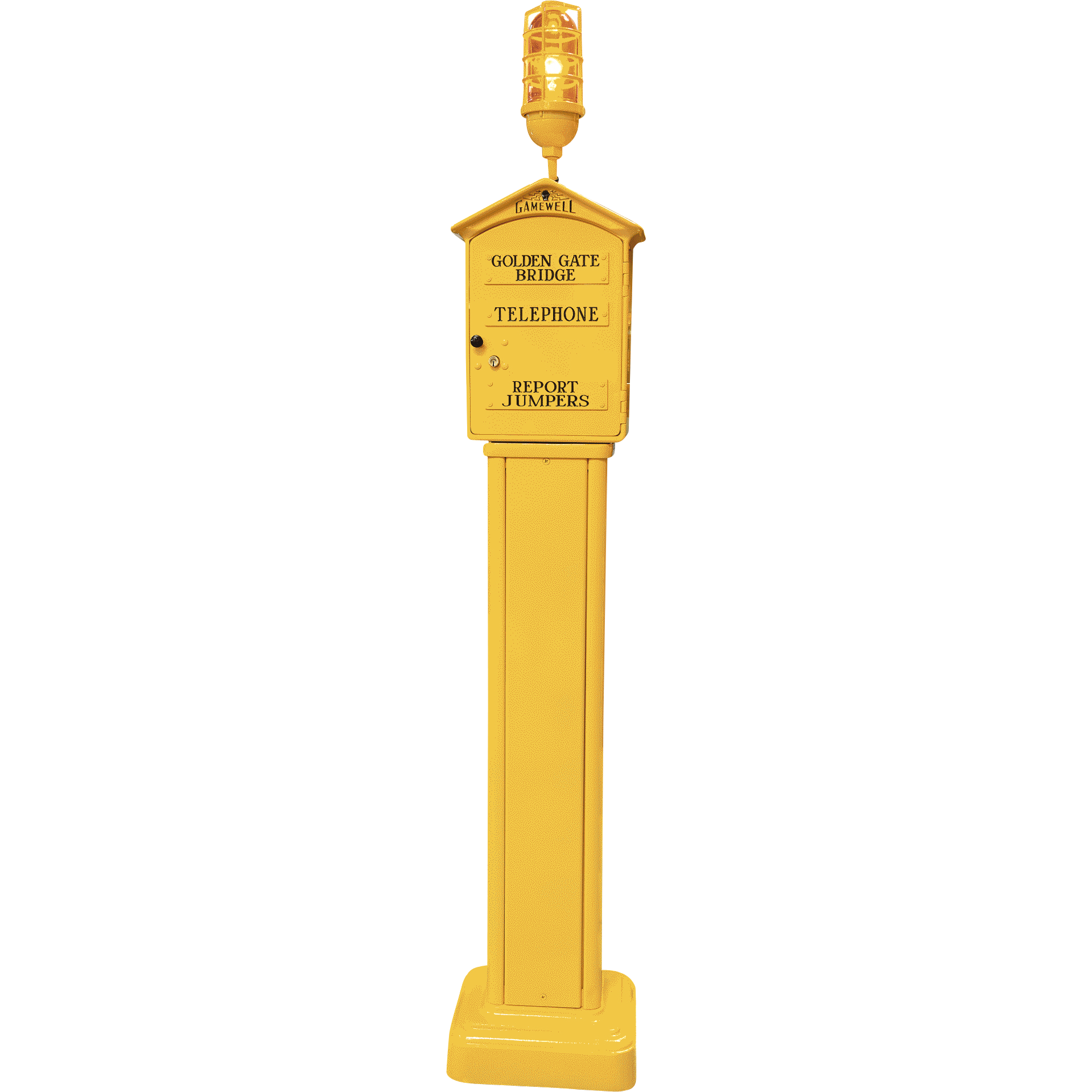 Gamewell Golden Gate Bridge Call Box on Pedestal