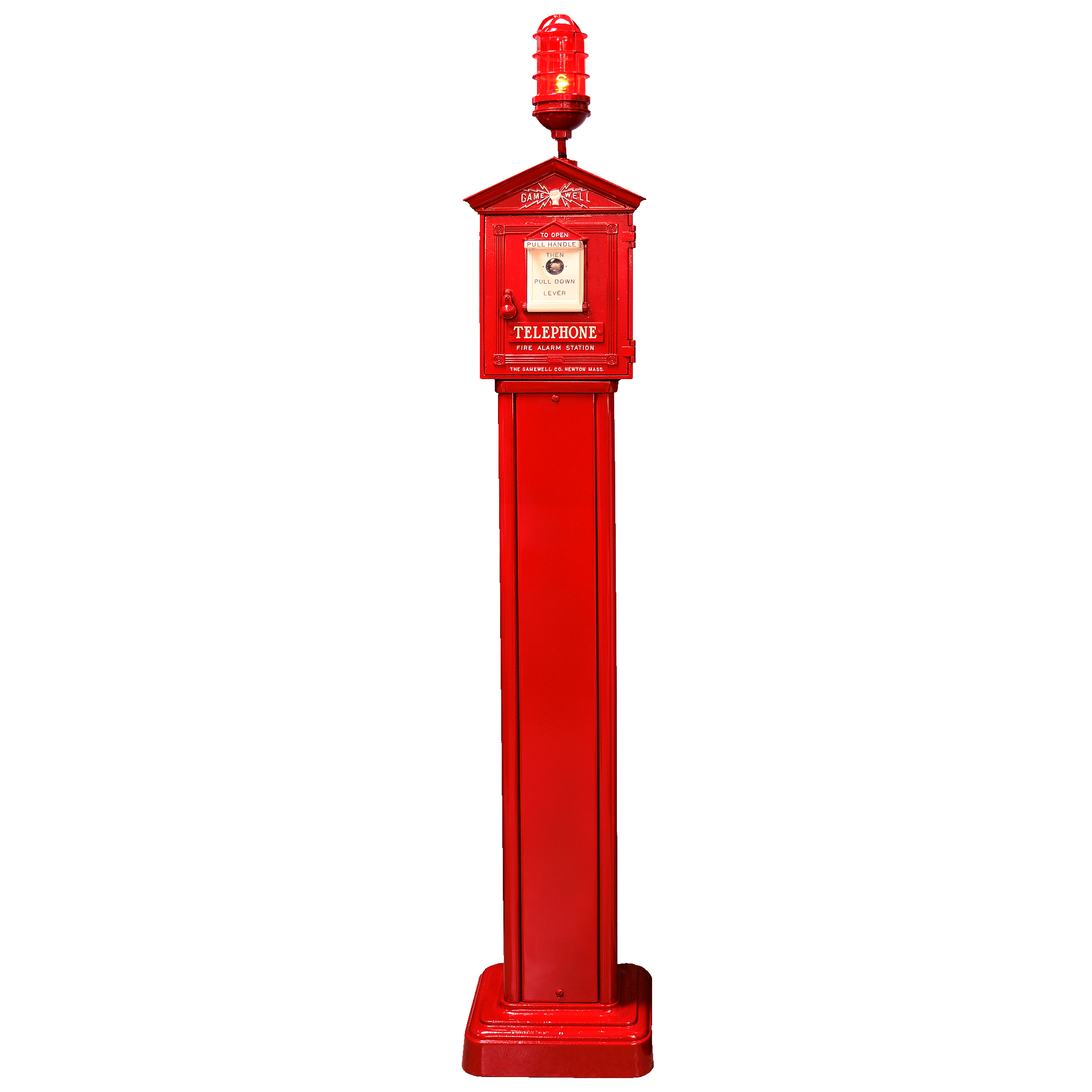 Gamewell Fire Alarm Call Box on Pedestal from ...
