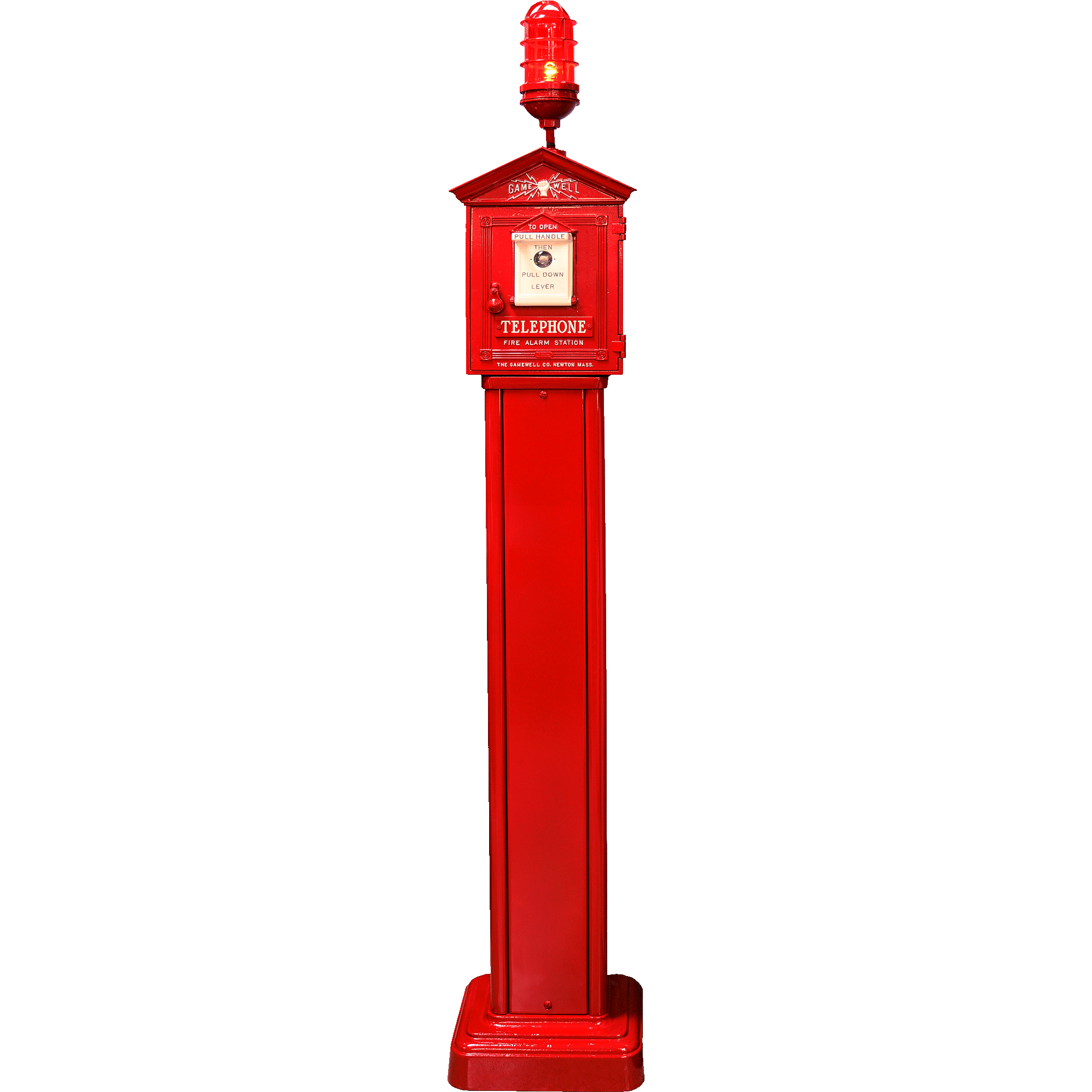 Gamewell Fire Alarm Call Box on Pedestal