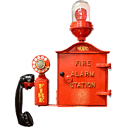 Faraday Fire Alarm Call Box with Western Electric Model 211 Phone