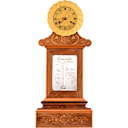 French Empire Satinwood Mantel Clock by Bouic