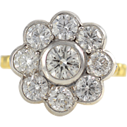 18K White and Yellow Gold 2.11 CTW Diamond Ring