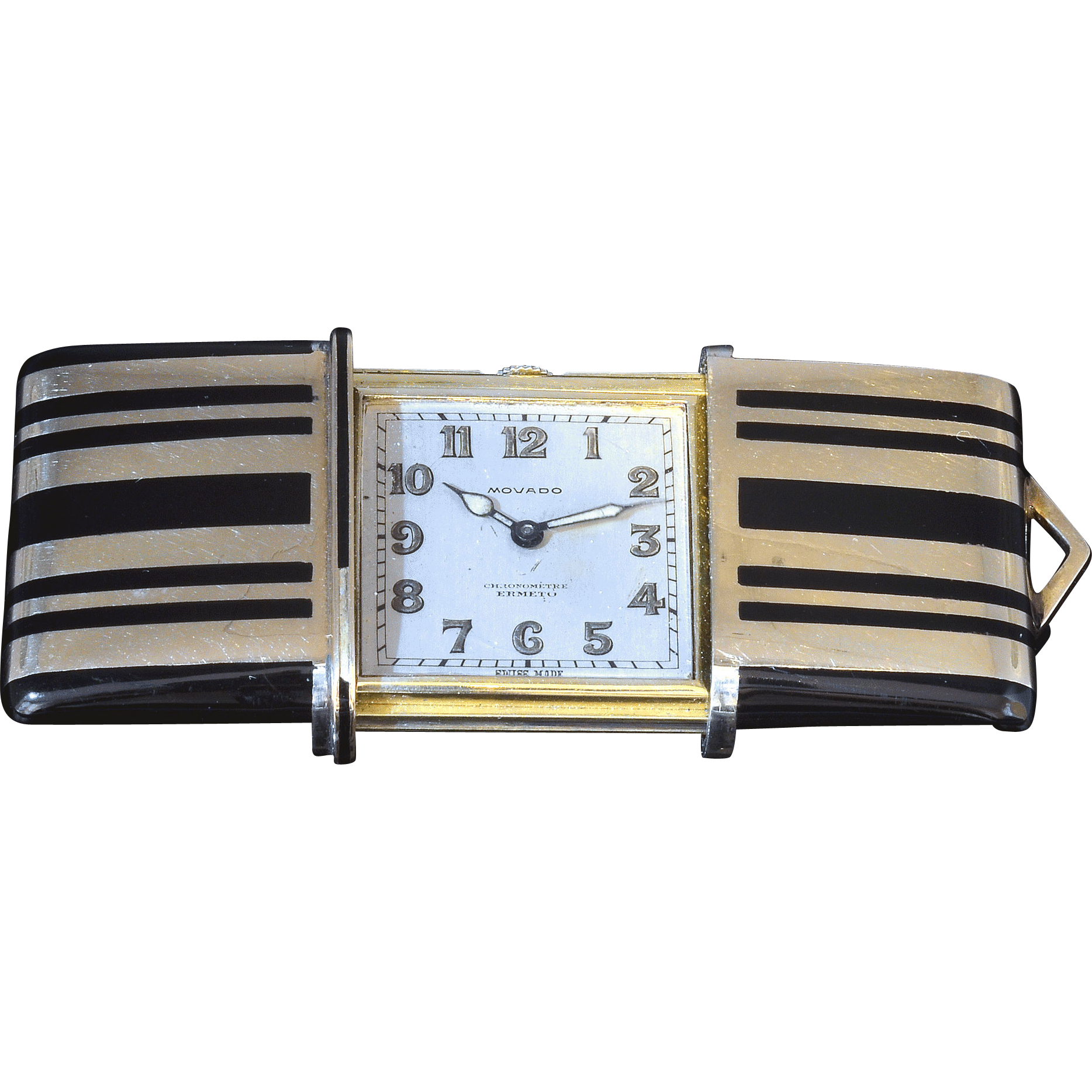 Swiss Art Deco Purse Watch by Movado
