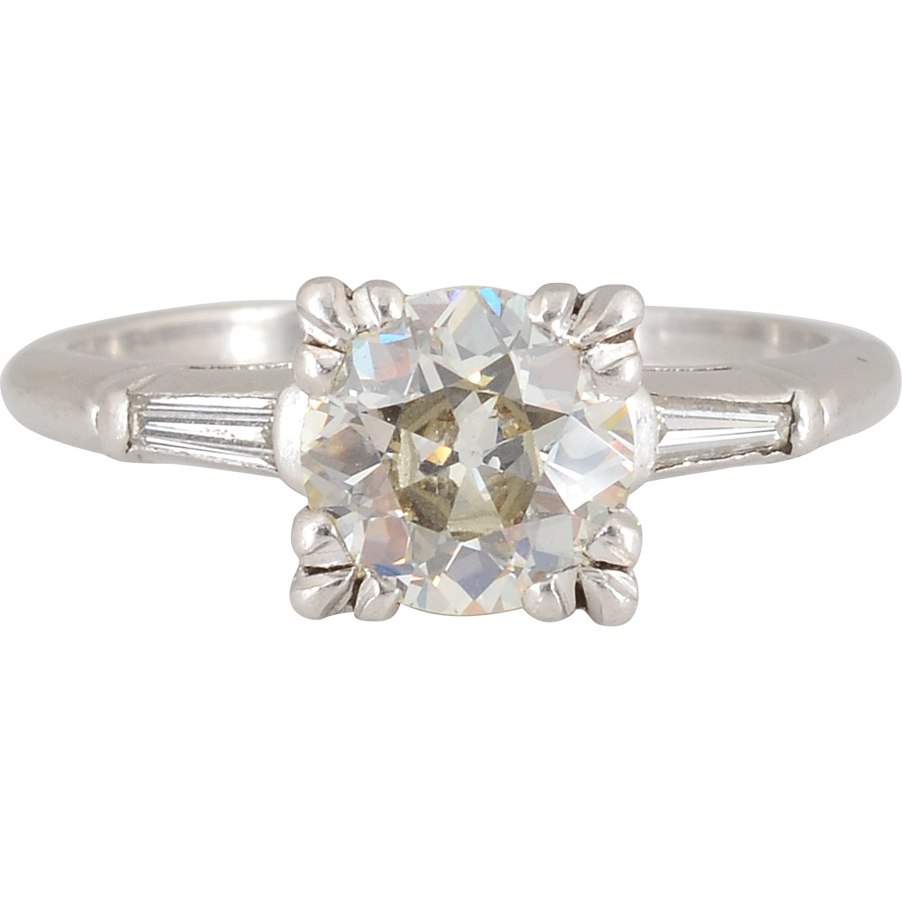 1.68 CTW Diamond Platinum Ring