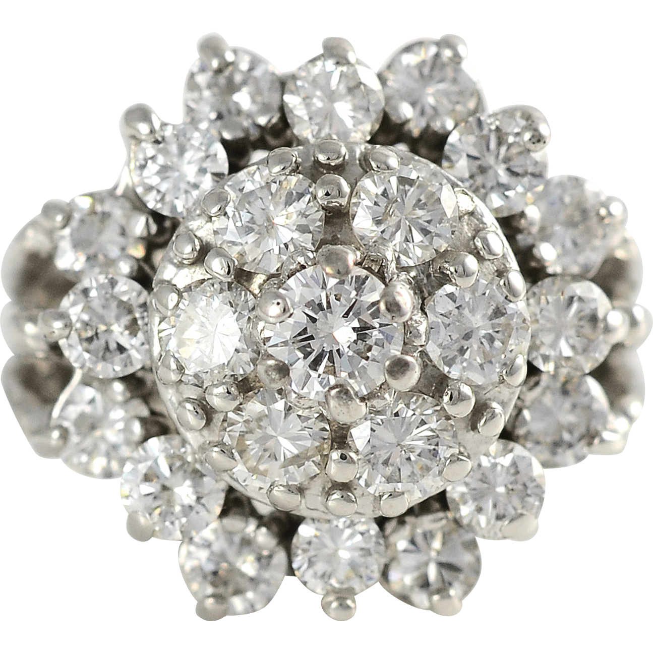 3.72 CTW Diamond Dome Ring