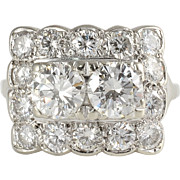 3.04 CTW Diamond Rectangular Ring