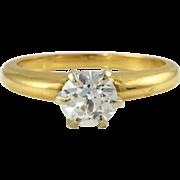0.78 Carat Solitaire VS2 Diamond Ring