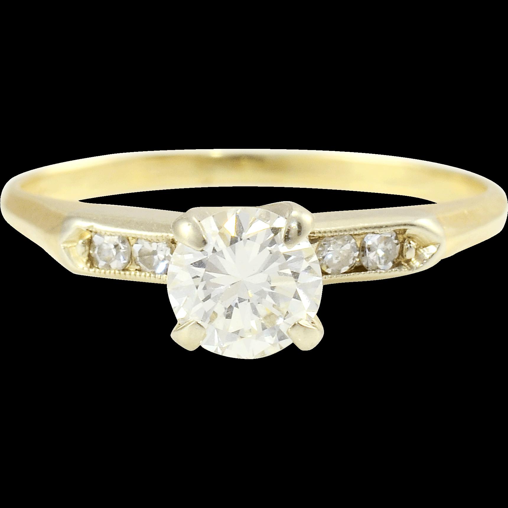 .75 Carat VS2 Diamond Center Engagement Ring