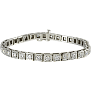 4.28 Carat Total Weight Diamond Tennis Bracelet