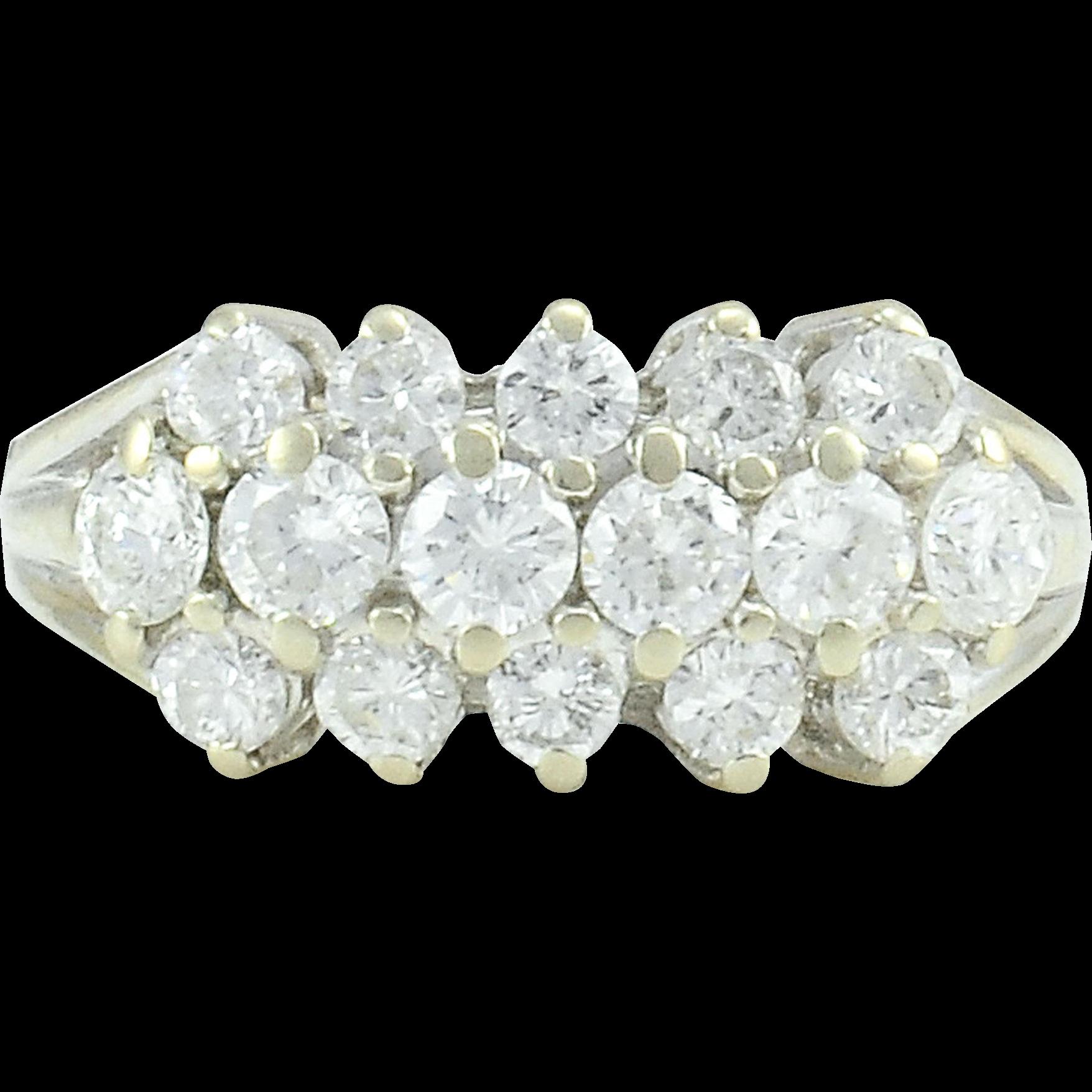 1.10 CTW Diamond White Gold Ring