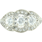 1.31 CTW VVS Diamond Platinum Ring