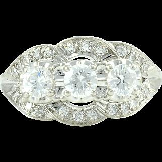 1.31 CTW VVS Diamond Platinum Ring