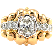 18 Karat Gold 0.88 Carat Diamond Ring