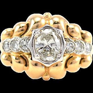 18 Karat Gold 0.88 Carat Diamond Ring