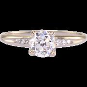 0.75 Carat VVS2 Center Diamond Platinum Engagement Ring
