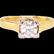 0.57 Carat Diamond Solitaire 18K Gold Ring