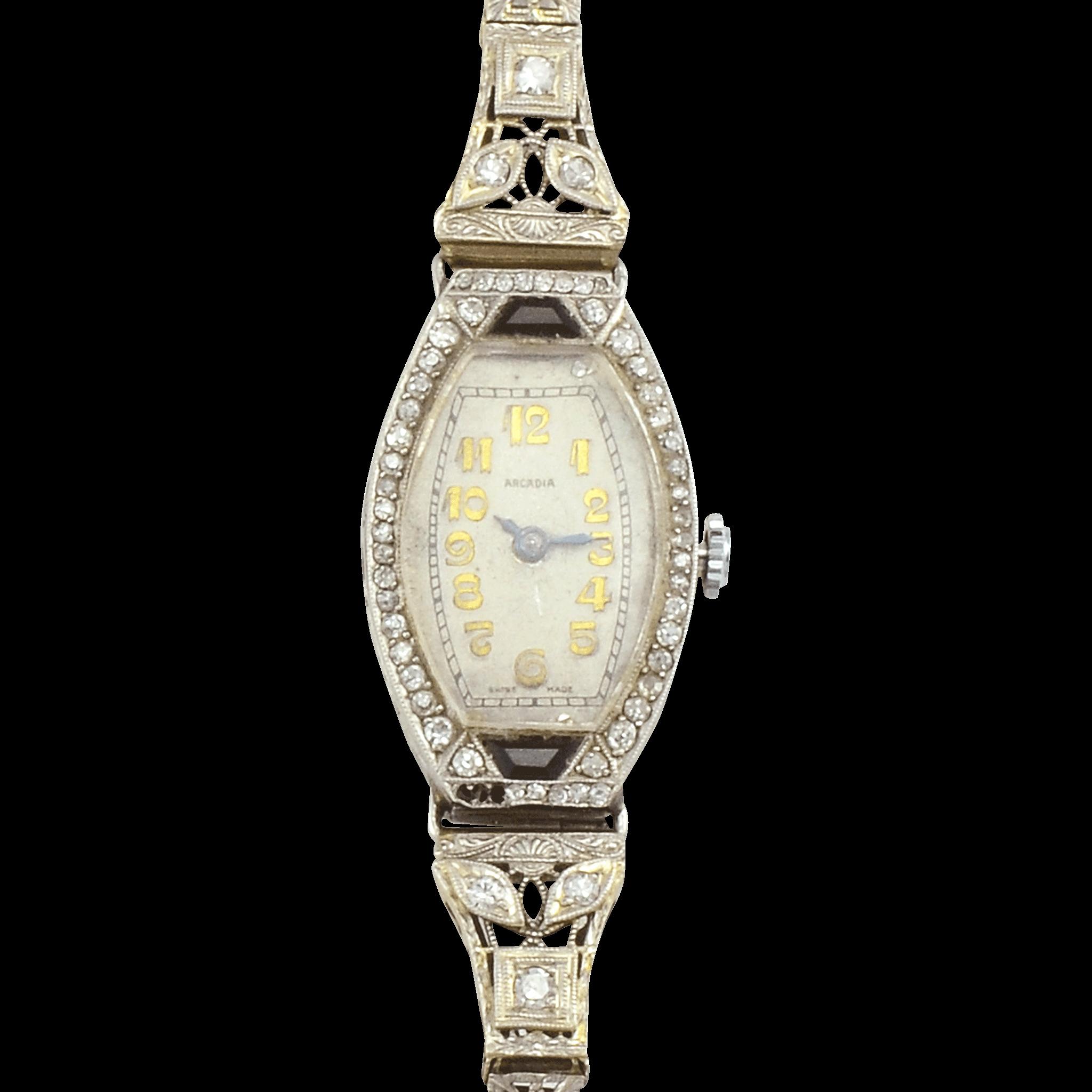 Swiss Platinum Ladies Ebel Wrist Watch