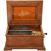 Swiss 15-1/2″ Stella Double Comb Disc Music Box