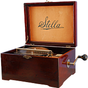 Stella Single Comb 9-1/2″ Disc Music Box