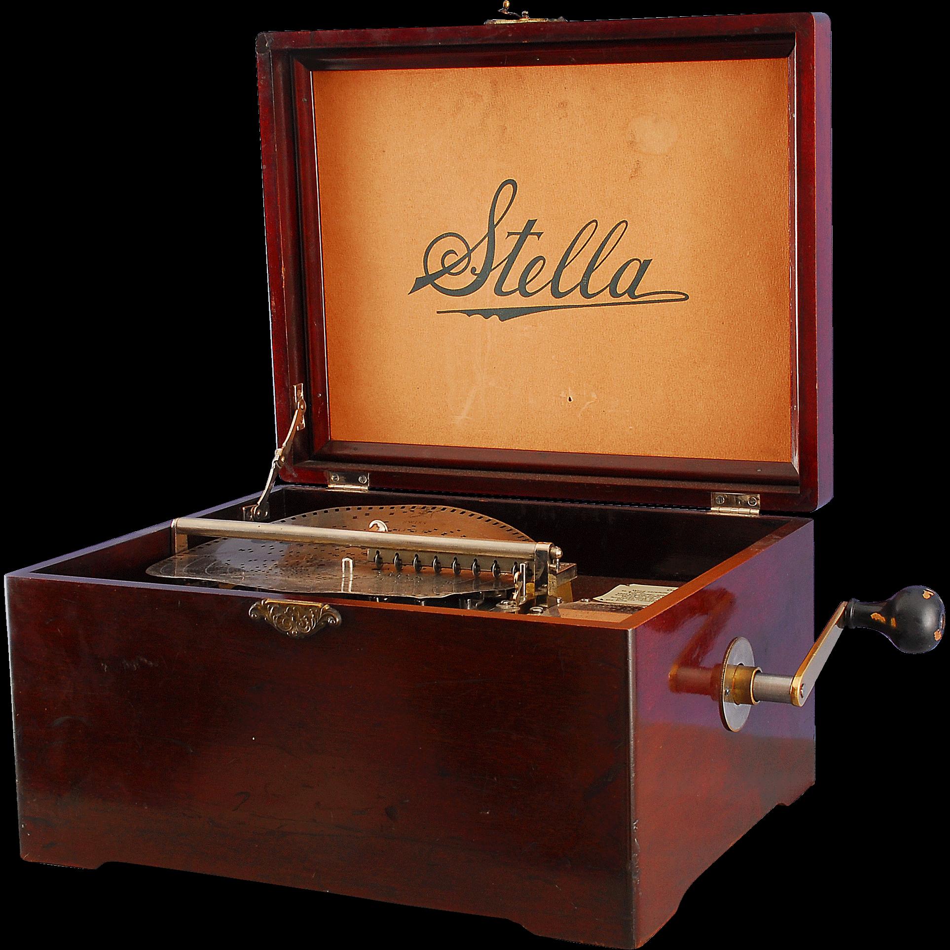 Stella Single Comb 9-1/2″ Disc Music Box