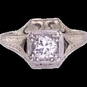 Belais 0.66 Carat Diamond Sapphire 18K White Gold Ring