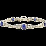 7.2 CTW Sapphire and Diamond Platinum Bracelet