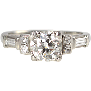 Platinum 1.05 CTW Diamond Engagement Ring