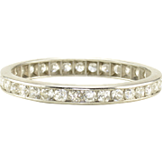 0.66 CTW Diamond Platinum Eternity Band
