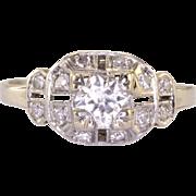 0.36 Carat Center VS Diamond Platinum Engagement Ring