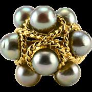 Tahitian Pearl Cluster Ring