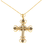 0.68 CTW Diamond Cross Pendant